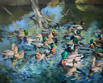 Edwina Lucas, 'Pond View Ducks', 2016