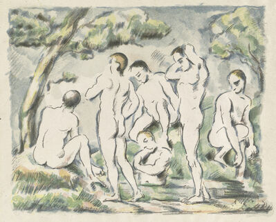 Paul Cézanne, 'The Bathers (Small Plate)', 1897