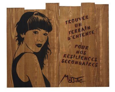 Miss Tic, 'Trouver un terrain d'entente pour nos résiliences secondaires', 2018