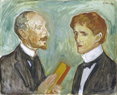 Edvard Munch, 'The Art Collector Albert Kollmann and the writer Sten Drewsen', 1901