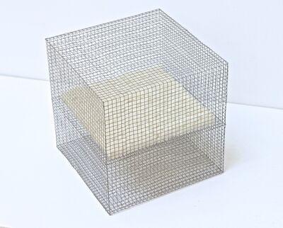Rakuko Naito, 'RNcube13-99 Wire Mesh with Paper Cube', 1999