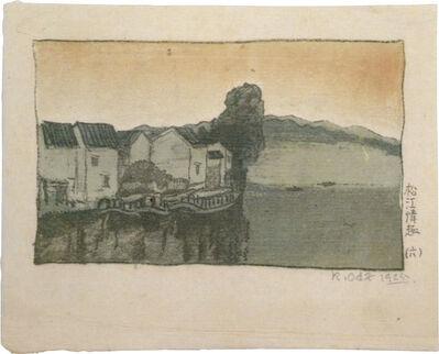 Kazuma Oda, 'Lyrical Scenes from Matsue: Six, Lake Shinji- Kagonohana', 1925