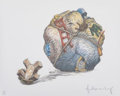 Claes Oldenburg, 'House Ball with Fallen Toy Bear', 1997