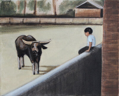Matthew Krishanu, 'Boy and Buffalo', 2019