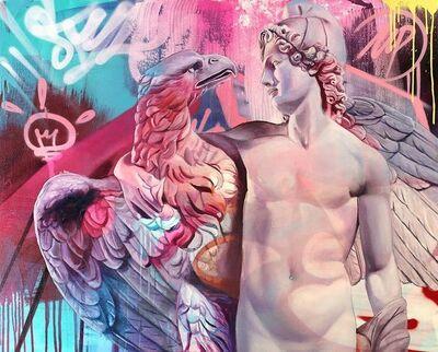 PichiAvo, 'Orphical Hymn to Ganymede and eagle', 2020