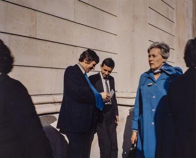 Paul Graham, 'Young Executives, Bank of England, November', 1981