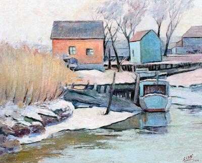 Tony Sisti, 'Waterfront Home in Winter', 1964