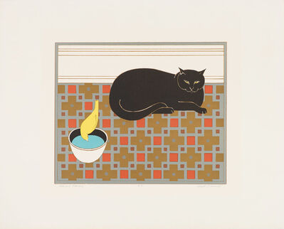 Will Barnet, 'Cat and Canary', 1971