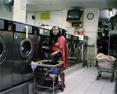 Dulce Pinzon, 'MARIA LUISA ROMERO from the State of Puebla works in a Laundromat in Brooklyn, New York. She sends 150 dollars a week.'