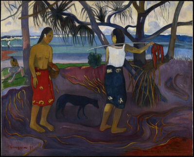 Paul Gauguin, 'I Raro Te Oviri (Under the Pandanus)', 1891