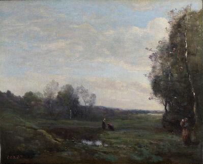 Jean-Baptiste-Camille Corot, 'Trois paysannes dans une clairière', c.1860-1865