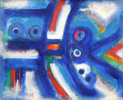 Ahmed Cherkaoui, 'L'ange bleu', 1965