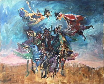 Yosl Bergner, 'Birds heads', 1980