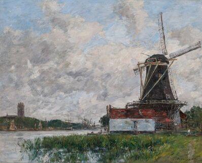 Eugène Boudin, 'Dordrecht, Moulin sur Les Bords de La Meuse', 1875