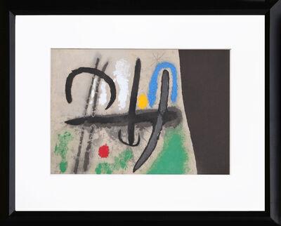Joan Miró, 'Cartones 16: Oiseau dans un Paysage', 1965