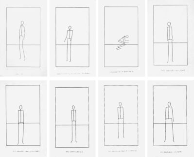 Matt Mullican, 'Untitled (Set of 8 Stick Figures)', 1974