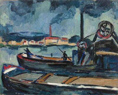 Maurice de Vlaminck, 'Péniches sur la Seine à Chatou', ca. 1907