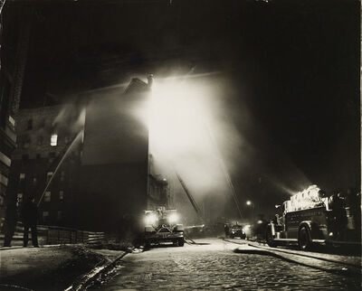 Weegee, 'Fire at night.', 1943