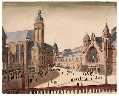 Carl Grossberg, 'Köln, Bahnhofsplatz', 1935