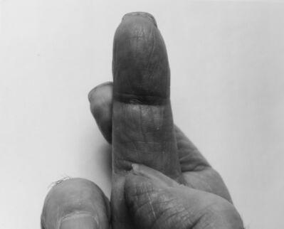 John Coplans, 'Crossed Fingers, No 6', 1999