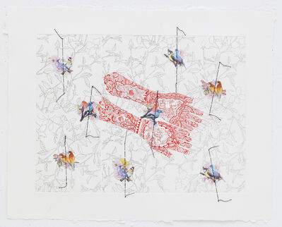 Ghada Amer & Reza Farkhondeh, 'Red Hands', 2007