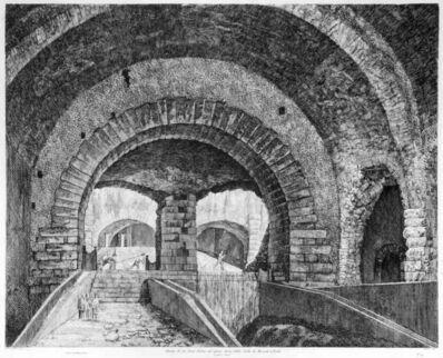 Luigi Rossini, 'Avanzi di un Gran Salone nel piano terra della Villa di Mecenate in Tivoli', 1826