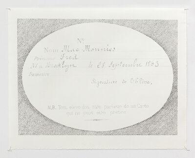 Laura Jasek, 'Membership card', 2018