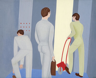 Elizabeth Fox, 'Men on an Elevator'