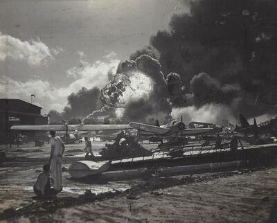Anonymous, 'U.S. Navy Photograph - Hawaii Naval Station Air Raids, Dec 7 1951', 1951