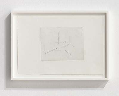 Fred Sandback, 'Etching on Zinc', 1975