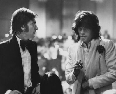 Ron Galella, 'John Lennon - Mick Jagger, March 13, 1974, Los Angeles,  CA', 1974