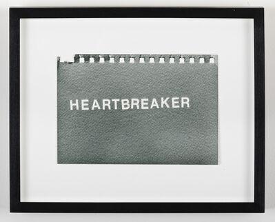 Betty Tompkins, '#2 (Heartbreaker #2)', 2016