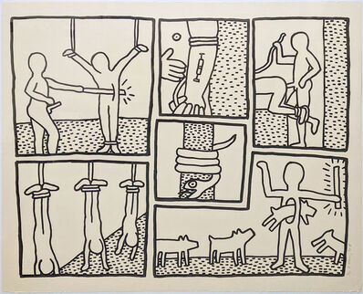 Keith Haring, 'UNTITLED (FROM BLUEPRINT DRAWINGS)', 1990