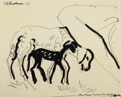 Ernst Ludwig Kirchner, 'Schaf und Lamm', 1927