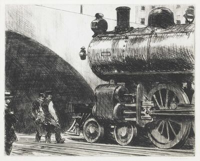 Edward Hopper, 'The Locomotive', 1923