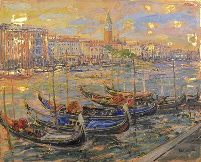 Bruno Zupan, 'Gondolas on the Grand Canal', 2010