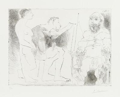 Pablo Picasso, 'PEINTRE AU TRAVAIL (Peintre avec un modèle barbu et une spectatrice)', October 31-1963