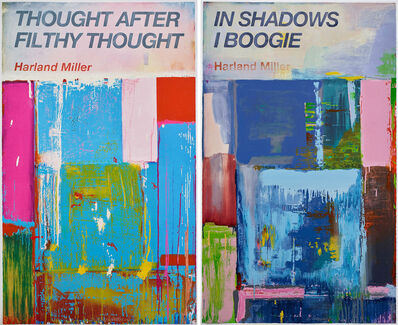 Harland Miller, 'Thought After Filthy Thought, In Shadows I Boogie (Set of two)', 2019