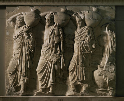 'Procession of Water Carriers (Parthenon, north frieze, block VIII, scenes 16-19)', 440-432 BCE