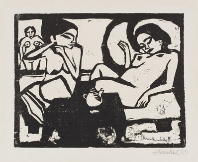 Erich Heckel, 'Two Girls in the Studio', 1910