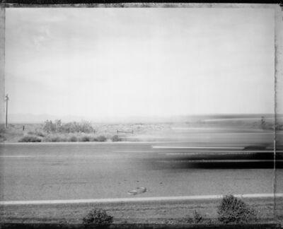 Mark Klett, 'Car passing snake, Eastern Mojave Desert', 1983