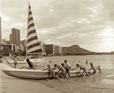 Cathy Shine, 'Waikiki Outrigger', 1976