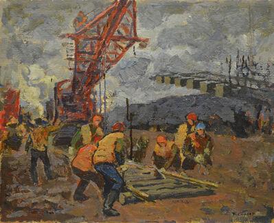 "Vladimir Frolovich Stroev, 'Sketch ""Railway line to Amur-Baikal""', 1981"