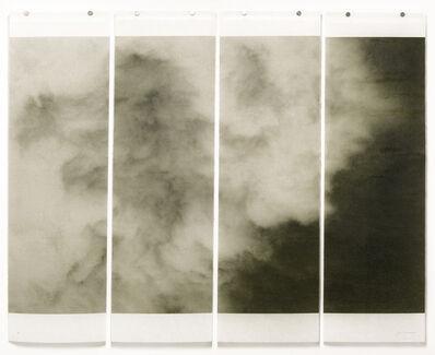 Jeri Eisenberg, 'Songs of the Sky No. 9 (4 Panel Photograph of Sky Japanese Kozo Paper/Encaustic)', 2018