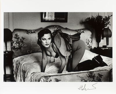 Helmut Newton, 'Saddle I, Paris (at the Hotel Lancaster)', 1984