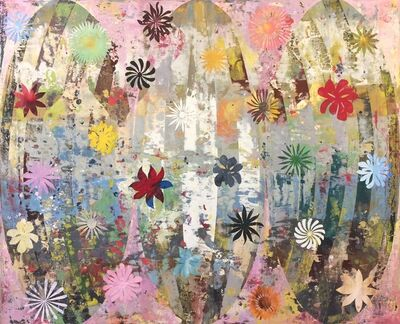 Perry Burns, 'Flower Tapestry 1'