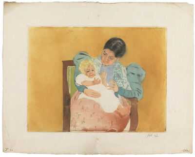 Mary Cassatt, 'The Barefooted Child (Breeskin 160; Mathews and Shapiro 22)', ca. 1896