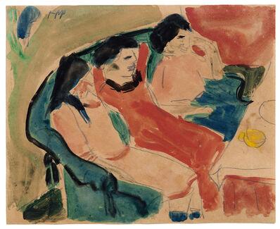 Max Pechstein, 'Drei Mädchen auf dem Sofa', ca. 1909