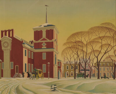 James R. Bingham, 'Snow at Independence Hall', 20th Century