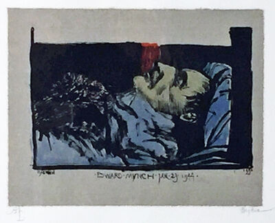 Leonard Baskin, 'EDWARD MUNCH JAN.23.1944.', 1990